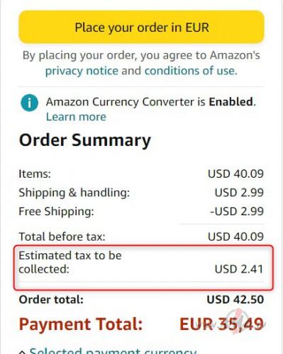 Amazon sales tax foto